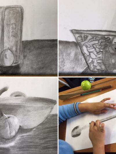 DCS Gallery 1 - Grade 7 Creative Art Practical - Still Life with charcoal